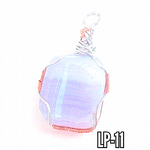 Blue Lace Agate  Crystal Wrap Pendant